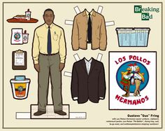 Kyle Hilton paper dolls from Breaking Bad: Gus Fring #breakingbad