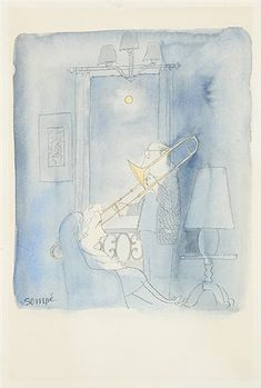 View Moonlight serenade by Jean-Jacques Sempé on artnet. Browse upcoming and past auction lots by Jean-Jacques Sempé. Cute Sketches, Global Art, Art Market, Vintage Advertisements, Moonlight, Childrens Books, Saul Steinberg, Past, Auction