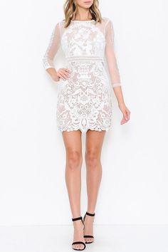 Arabella Lace Dress - Ivory