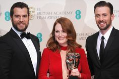 Julianne Moore, Henry Cavill and Chris Evans at the BAFTAs http://www.panempropaganda.com/movie-countdown/2015/2/9/julianne-moore-sam-claflin-and-natalie-dormer-at-the-baftas.html/