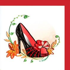 "Quilled ""any occasion"" greeting card has a dressy High Heel Shoe and tiger lily on front Quilling Craft, Quilling Patterns, Quilling Designs, Paper Quilling, Quilling Ideas, Renaissance, Crafts For Kids, Arts And Crafts, Making Greeting Cards"