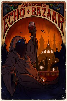 """We are very pleased to announce that this year's Fin de Siècle in Fallen London fan art competition winners are: """"The Echo Bazaar"""" by Alex McCauley What our artists had to say. Sunless Sea, Expedition Unknown, Fallen London, Alternate History, Art Competitions, Sea Art, London Art, Dungeons And Dragons, Game Art"""