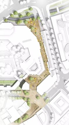 colored pedestrian street site plan #landscapearchitectureplan