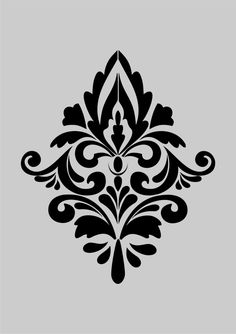 Damask II French style Shabby Chic Stencils