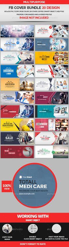Facebook Cover Bundle Two - 20 Design - #Facebook #Timeline Covers #Social Media Download here:  https://graphicriver.net/item/facebook-cover-bundle-two-20-design/19459700?ref=alena994
