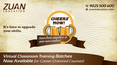 Learn Anywhere from your own comfort! @zuaneducation launches Virtual Classroom Training for busy professionals. Know more information from #ZuanEducation's Blog post. http://www.zuaneducation.com/blog/virtual-classroom-training-career-oriented-courses