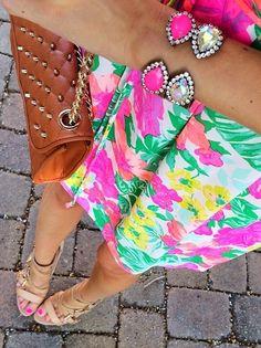 neon pink + iridescent sarra cuffs @cmcoving