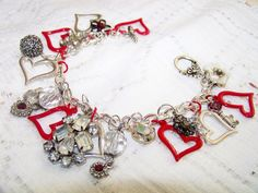 Loving You Valentine Charm Bracelet by MMVintageSweets