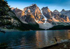 Sunset at Lake Moraine in Banff Canada [4324 x 3072]