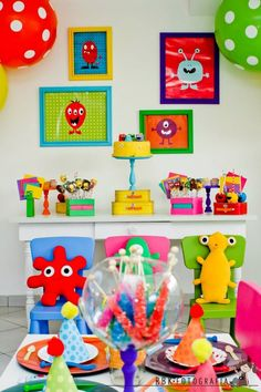 How fun is this Little Monster party?! Found via www.karaspartyideas.com