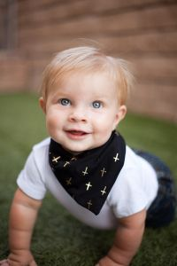 JT wearing a @Brok Boys Accessories baby bandana in black and gold. Edgy accessories for the little man in your life: http://www.etsy.com/shop/BrokBoys