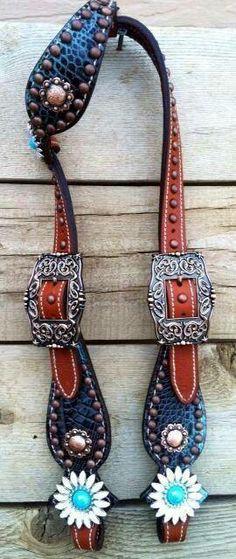 blingmyride.com gorgeous headstall horse tack