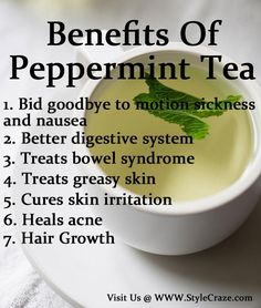 Benefits Of Peppermint Tea - Only had this once, try again.