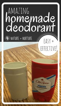Homemade deodorant t
