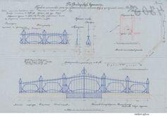 Проект ограды, 1905 год