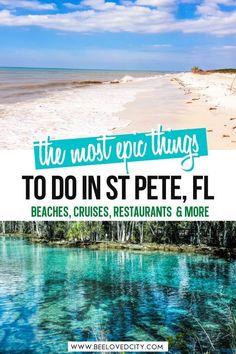 Visit Florida, Florida Vacation, Florida Trips, Vacation Spots, St Petes Beach Florida, Clearwater Beach Florida, Florida Travel Guide, St Petersburg Florida, Florida Adventures
