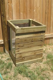 Our latest home project was a small compost bin... yes, we are already thinking about spring gardens!  Just before we moved we planted out f...