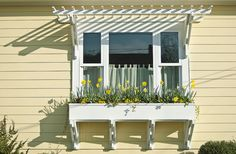 Window box with pergola detail-Sunny Side by photofixpdx, via Flickr