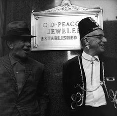 VIVIAN MAIER Chicago (Two Men, C.D. Peacock Jewelers), 1968 For more information contact: The Jeffrey Goldstein Collection