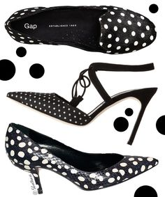 The first one are best! I own one pair :) polka dots trend manolo blahnik gap loafers edmundo castillo shoes fall 2012