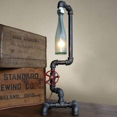 Fuse Table Lamp in recycled lamps