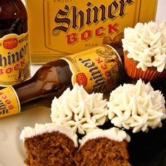 Shiner chocolate cupcakes --
