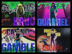 Personally made collage of Nanbaka characters using photos from the anime. - Marie Pasier