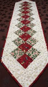 Christmas Table Runner, Quilted Table Runner, Red and Green Table Runner, Winter Table Runner - Dining Room Quilted Table Runners Christmas, Patchwork Table Runner, Christmas Patchwork, Christmas Runner, Table Runner And Placemats, Crochet Table Runner, Table Runner Pattern, Purple Christmas, Coastal Christmas