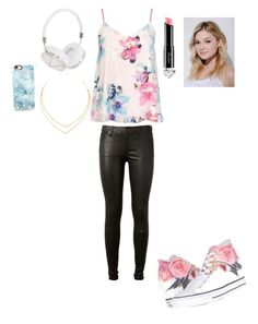 """""""Almost Casual"""" by rebekah-mikealson2334 ❤ liked on Polyvore featuring Dorothy Perkins, Converse, Frends, AG Adriano Goldschmied, Casetify, La Petite Robe di Chiara Boni, Lana and Neutrogena"""