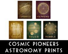8x10 Astronomy Print Science Art Stephen Hawking Rock Star Cosmic Pioneer Geek Chic Nerd Decor Poster Wall Art Outer Space Black Hole Galaxy. $18.00, via Etsy.