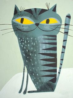 I love Matte Stephens, i have a print of this on my wall at home. The world's most pleased looking cat!