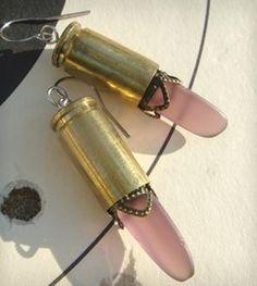 Seaglass femme fatale earrings