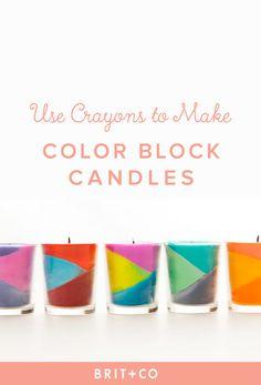 diy-color-block-candle