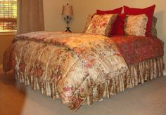 Ralph Lauren's Guinevere Comforter with coordinating Galahad sheets.  Simple and beautiful.  I see just a touch of the leopard print.
