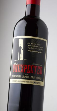 The Unexpected – four varietal blend from Australia with a distinctly 'Film Noir' feel – Harpers Global Design Awards 2015 Silver Medal