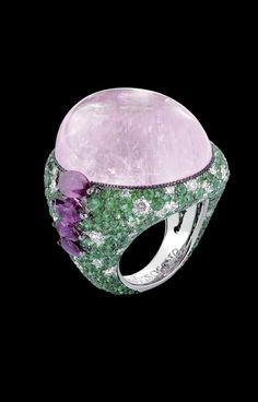 de Grisogono - White gold, pink tourmaline, white diamonds, emeralds and marquise-cut rubies.