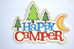 Happy Campers Paper Piecing for Premade Scrapbook Page by reddie13