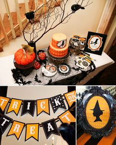 Love decorating for Halloween and the crows on the branches is a great idea.