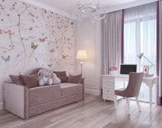 Baby Room Decor, Bedroom Decor, Pink Bedroom For Girls, Cool Kids Rooms, Pretty Room, Girl Bedroom Designs, Paint Colors For Living Room, Home Room Design, Luxurious Bedrooms