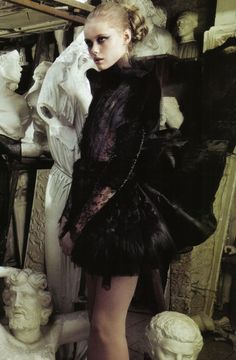 frida gustavssoninvalentino haute couture for vogue italia