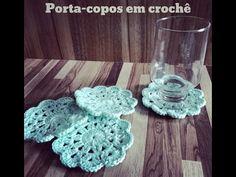 """DIY - Como fazer PORTA-COPOS em crochê - """"Bem facinho"""" =) - YouTube"""