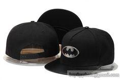 Cartoon Snapback Batman Hats Iron Logo Snapback Hats All Black