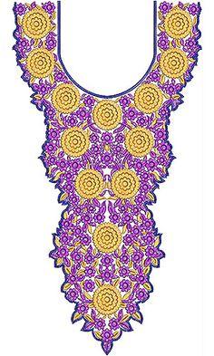 Wedding Dresses Long Neck Embroidery Design