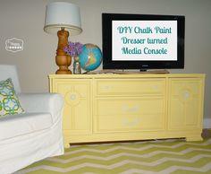 2 DIY Chalk Paint Dresser turned Media Console