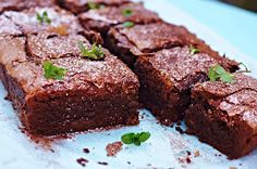 The Other Crumb: Dark chocolate peppermint brownie with chocolate mint