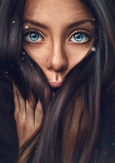 64 ideas for digital art girl fantasy portraits Digital Art Girl, Digital Portrait, Portrait Art, Eye Photography, Photoshop Photography, Concept Photography, Evvi Art, Art Sketches, Art Drawings