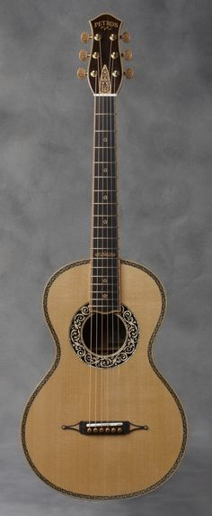 Baroque Parlor Guitar by Petros. Sweet.