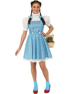 #Adult wizard of oz dorothy outfit fancy #dress costume blue #ladies womens femal, View more on the LINK: http://www.zeppy.io/product/gb/2/191251243410/