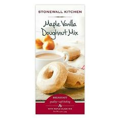 Stonewall Kitchen Maple Glazed Vanilla Doughnut Mix, 19 ozSweet mornings begin with these vanilla doughnuts that bake up nice and fluffy in the oven before enjoying a dip in thick maple glaze. A fluffy, vanilla-flavored doughnut mix. Gourmet Food Gifts, Gourmet Recipes, Gluten Free Protein Bars, Advent Calendars For Kids, Stonewall Kitchen, Sunday Breakfast, Maple Glaze, Few Ingredients, Vanilla Flavoring
