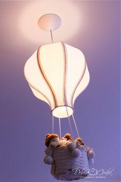 lustre de balão com ursinhos delicados